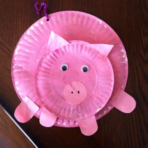 pig crafts for paper plate pig preschool crafts paper