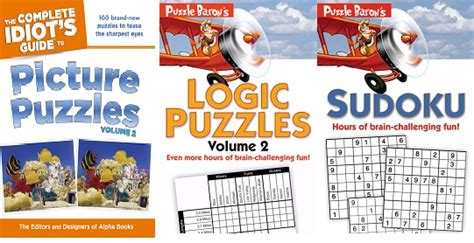 picture puzzle books for adults puzzle books for adults from complete idiots guide