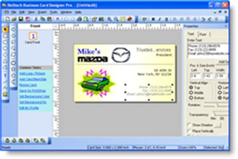 program to make business cards business card software design print color business cards