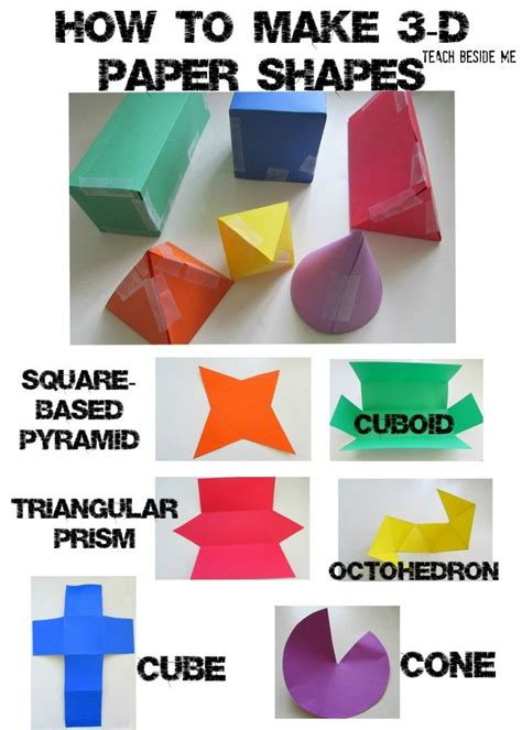 how to prepare paper crafts 25 best ideas about 3d shapes names on solid