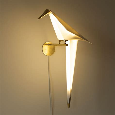 origami bird lights by umut yamac colossal