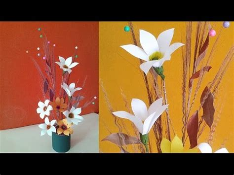 best out of waste paper craft easy paper flower vase recycled craft idea best