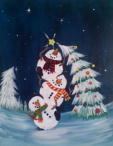 paint nite snowman best 25 winter painting ideas on
