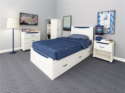 ameriwood bedroom furniture dorel home furnishings mates storage bed with colored