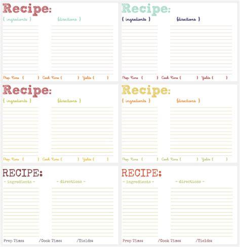 make a recipe card printable recipe cards savvy eats