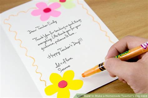 how to make teachers day card how to make a s day card 7 steps with