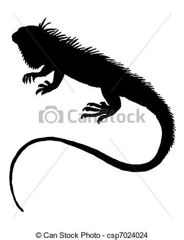 eps vector of iguana silhouette iguana silhouette