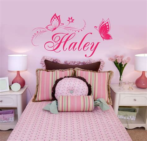 wall sticker names personalized name butterflies vinyl wall decal sticker