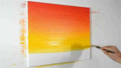 how to blend acrylic paint on canvas how to blend acrylic paints narrated demonstration