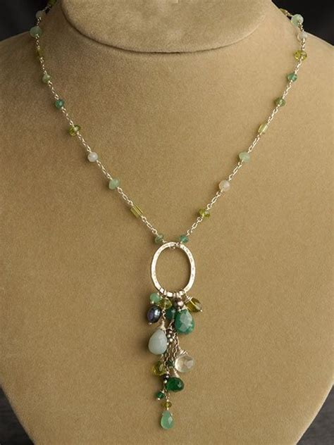 jewelry ideas for peridot chrysoprase green onyx amazonite and pearl