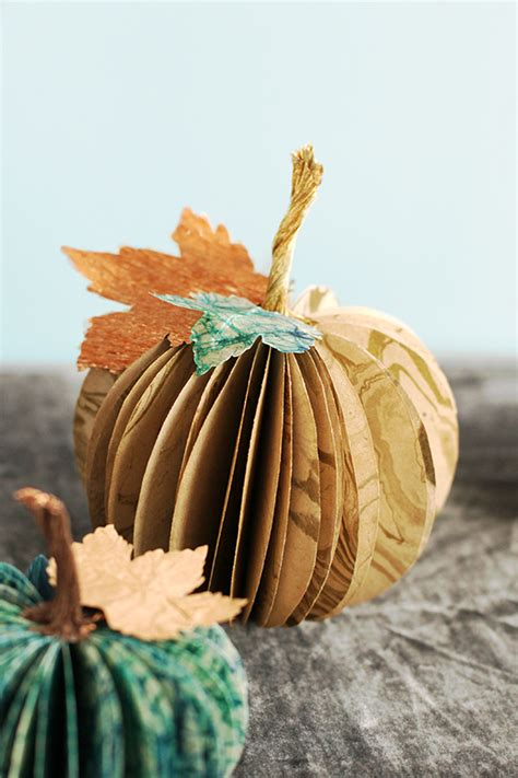 paper pumpkin craft paper pumpkin centerpiece julep