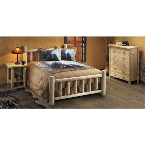 log bed set rustic cedar furniture company 174 king cedar log bed