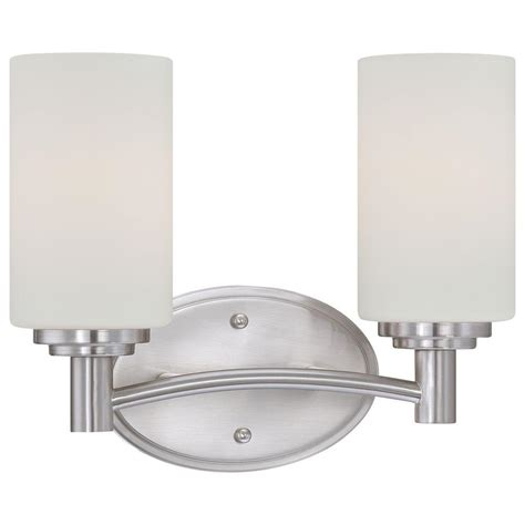 home depot bathroom lighting brushed nickel lighting pittman 2 light brushed nickel wall vanity