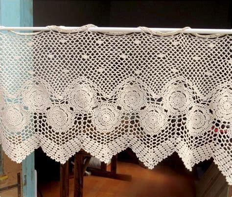 crochet kitchen curtains crochet kitchen curtains a lovely crochet curtain ღ