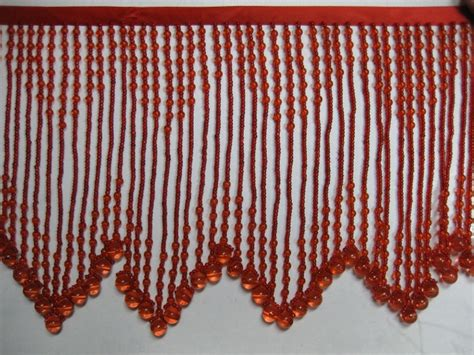 window bead trim glass beaded fringe bb 1300 lightred 25 00 eeagal