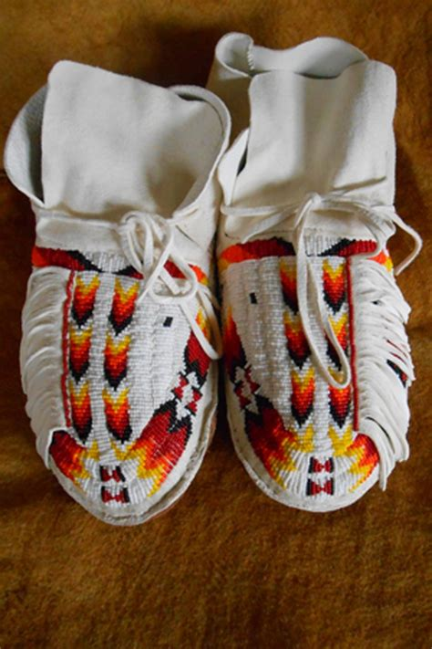 beaded moccasins and custer battlefield trading post american