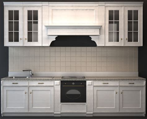 kitchen cabinet 3d classic wood kitchen cabinet 3d model 3dsmax 3ds wavefront