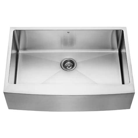 metal kitchen sinks vigo 33 inch farmhouse apron single bowl 16