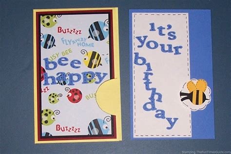 how to make a happy birthday card how to make a bee happy birthday pocket card times