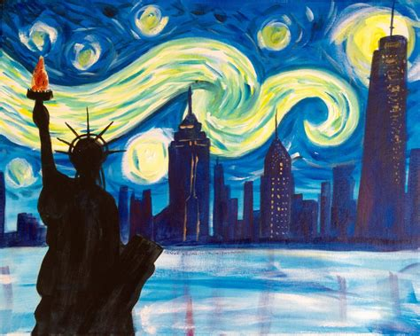 paint nite nyc schedule almost sold out paint starry new york 4 july
