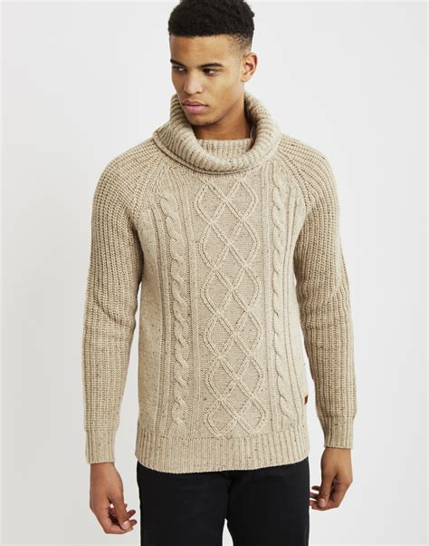 mens knit pullover only sons mens knitted pullover cable knit jumper