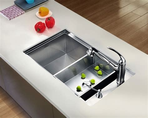 square kitchen sinks undermount square single bowl sink with side drain
