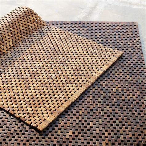 modern doormats wood block rug modern outdoor rugs by west elm