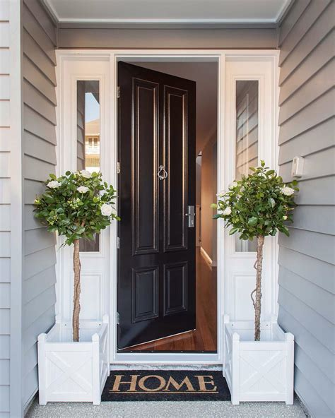 home entrance decorating ideas welcome home to this classic htons style front entrance