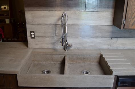 kitchen sink and countertop mode concrete modern contemporary concrete kitchen with