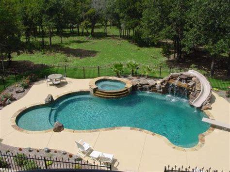 backyard pool slides swimming pool slide diving board tub and waterfall