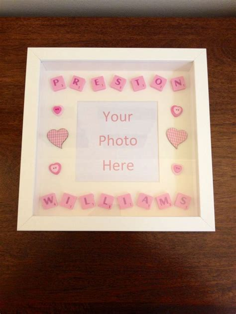 scrabble words with aa new baby scrabble word picture frame diy