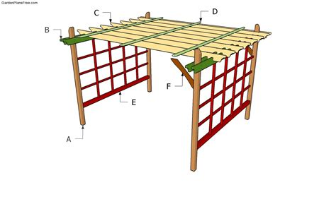 Pergola Swings building a garden pergola plans free how to build garden