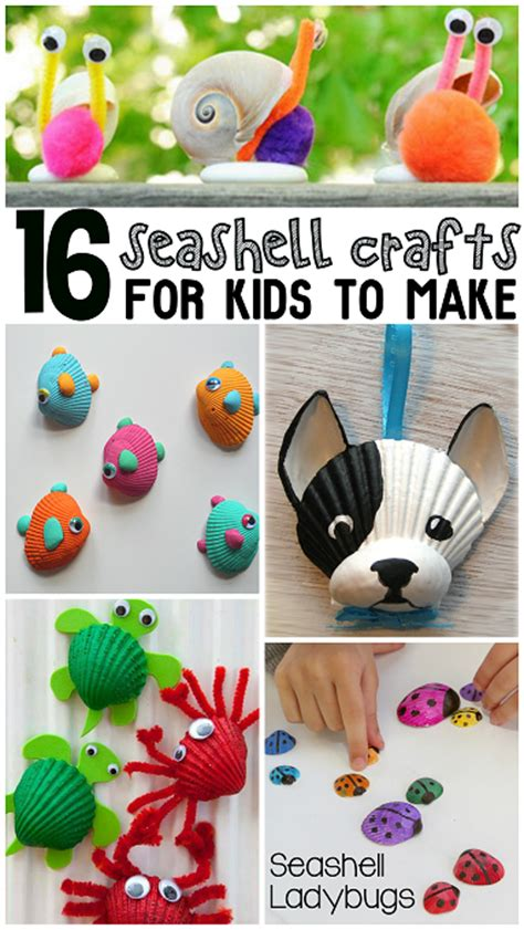 ideas for children adorable seashell craft ideas for crafty morning