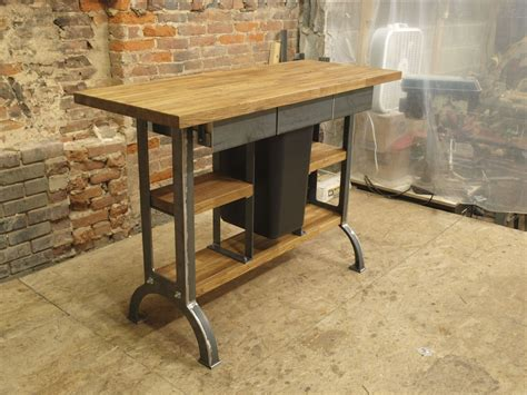 industrial kitchen island made modern industrial kitchen island console table by cosironworks custommade
