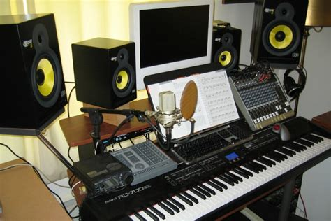 producer studio desk packaging a home piano studio desk technomadic