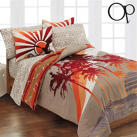 hawaiian comforter set op tropic sun bed in a bag bedding set walmart