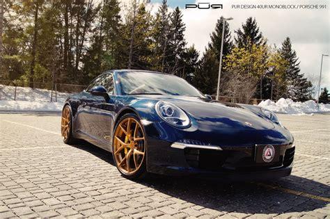Blue Car Gold Wheels by Gallery Porsche 991 On Gold Pur Wheels