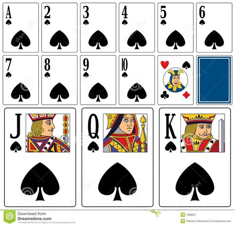 Casino Playing Cards   Spades Stock Vector   Image: 7968927