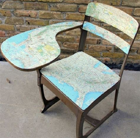 decoupage chairs for sale upcycled maps nifty homestead