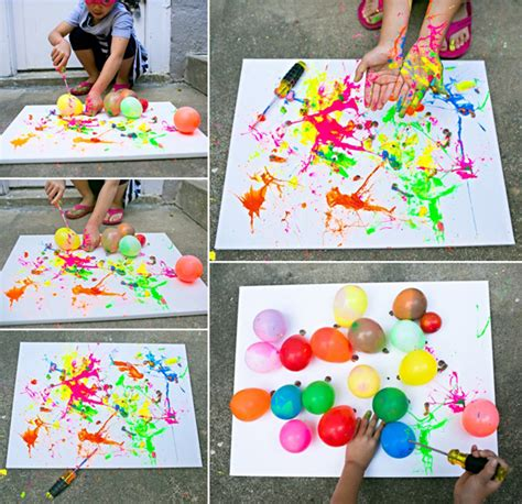 painting craft projects hello wonderful balloon splatter painting with tools