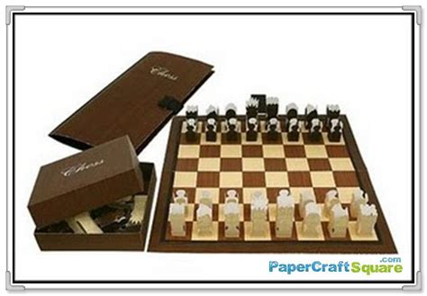 paper crafts canon canon creative park chess papercraft