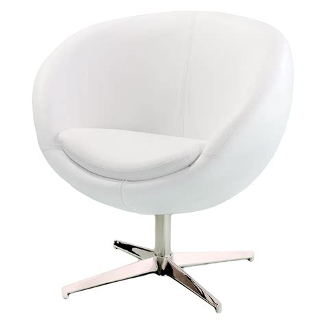 White Leather Accent Chair by Best Selling Home Decor Modern White Leather Roundback