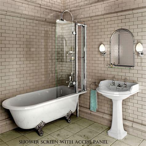 roll top bath and shower burlington hton traditional shower bath uk bathrooms