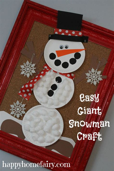 easy snowman crafts for easy snowman craft happy home