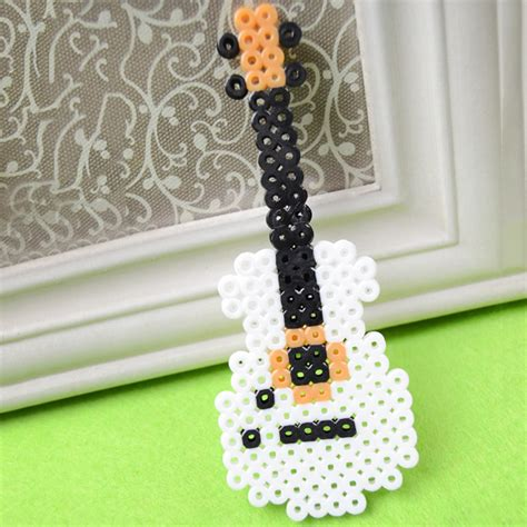 how to make perler bead perler bead guitar family crafts