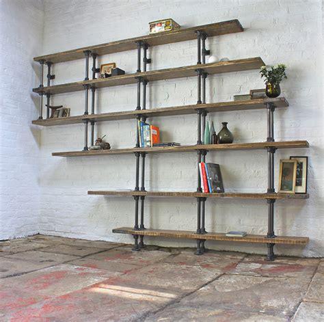 galvanized pipe bookshelves steel pipe shelf bored panda