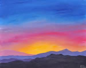 painting acrylic landscapes easy way mountain original acrylic landscape painting on