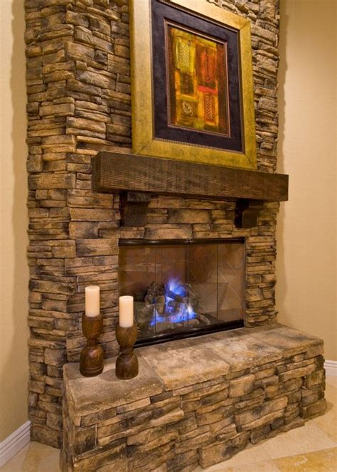 rock fireplaces stacked rock fireplace kitchen family room