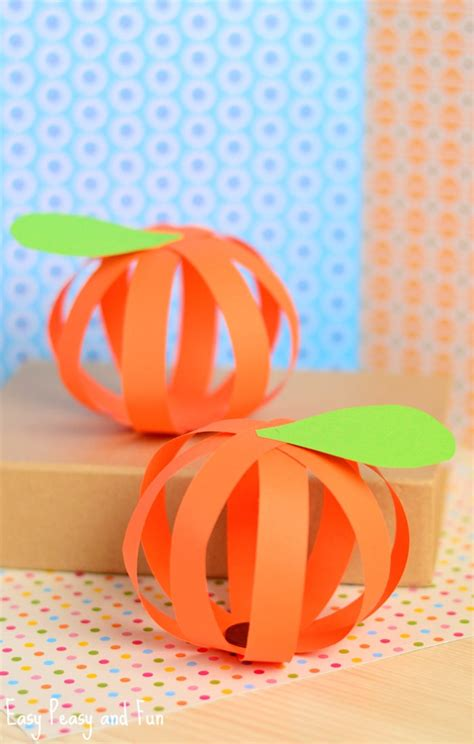 paper pumpkin crafts paper pumpkin craft easy peasy and