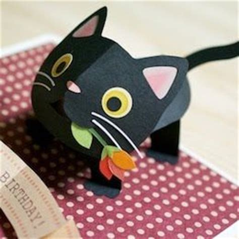 how to make a pop up cat card pop up cats kagisippo pop up cards 2 pop up